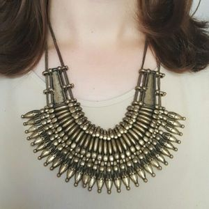 Urban Outfitters Mercer Bib Gold Necklace
